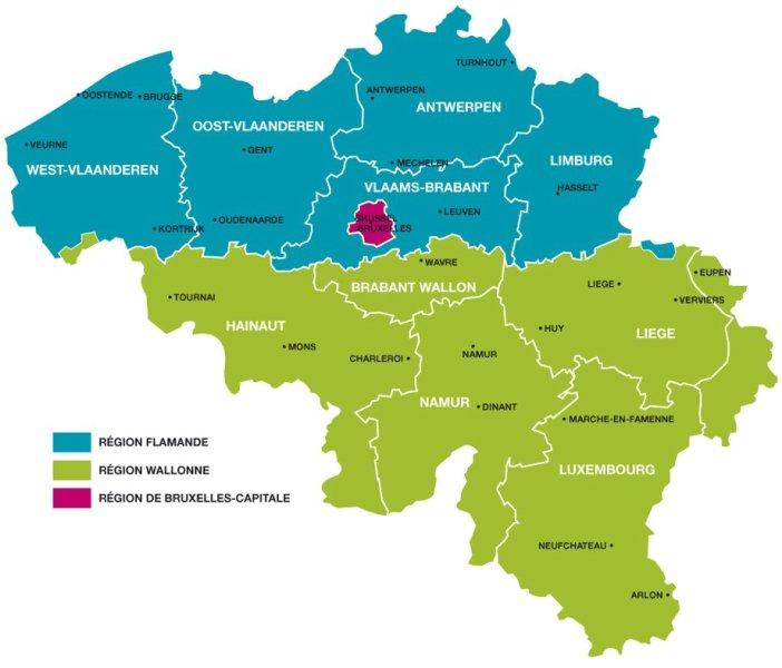 Régions belgique