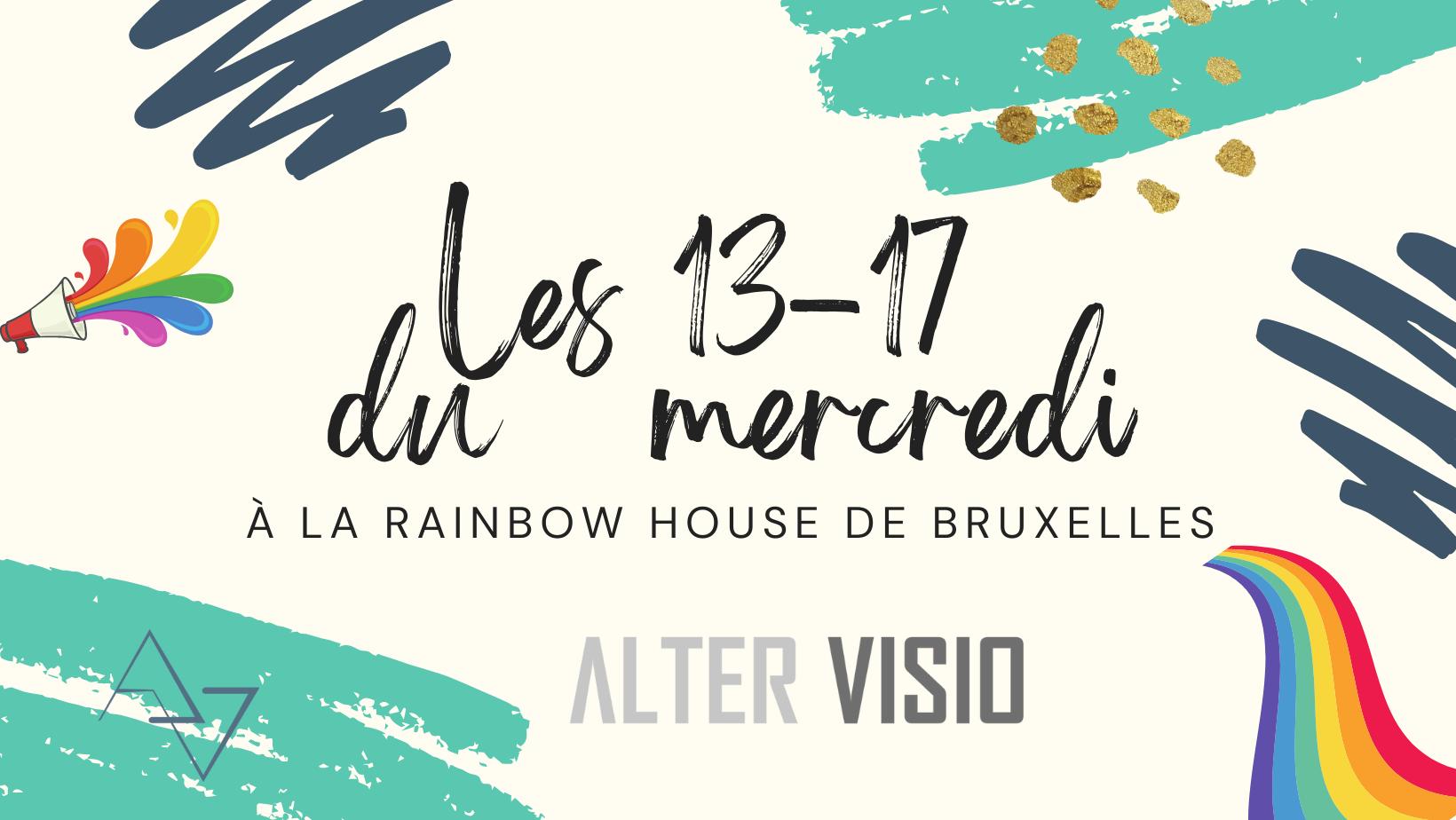 Les 13-17 du mercredi, un lieu pour les jeunes LGBTQIA+ et leurs ami.es à Bruxelles.